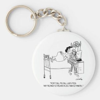 Pizza Cartoon 6991 Keychain