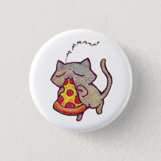 Pizza Cat! 1 Inch Round Button