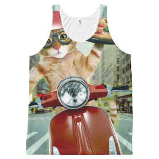 pizza cat - cat - pizza delivery All-Over-Print tank top