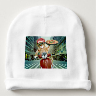 pizza cat - cat - pizza delivery baby beanie