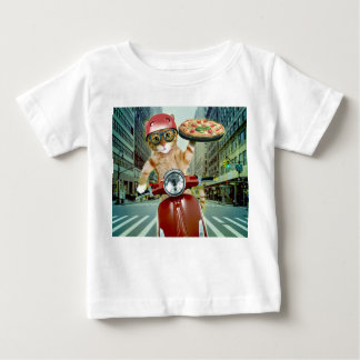 pizza cat - cat - pizza delivery baby T-Shirt