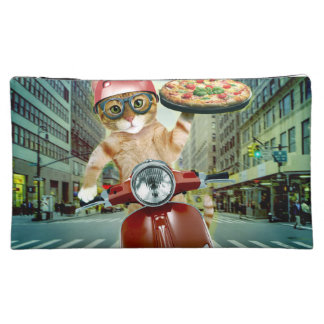 pizza cat - cat - pizza delivery cosmetic bag