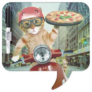 pizza cat - cat - pizza delivery dry erase board
