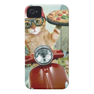 pizza cat - cat - pizza delivery iPhone 4 Case-Mate cases