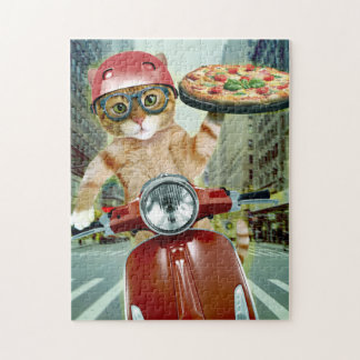 pizza cat - cat - pizza delivery jigsaw puzzle