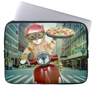 pizza cat - cat - pizza delivery laptop sleeve