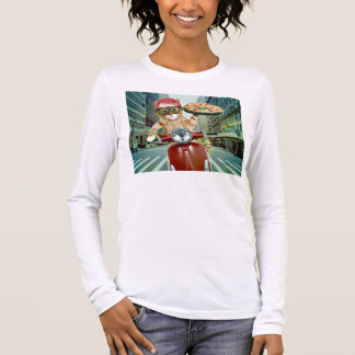 pizza cat - cat - pizza delivery long sleeve T-Shirt