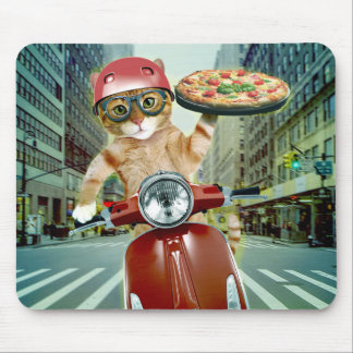 pizza cat - cat - pizza delivery mouse pad