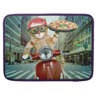 pizza cat - cat - pizza delivery sleeve for MacBook pro