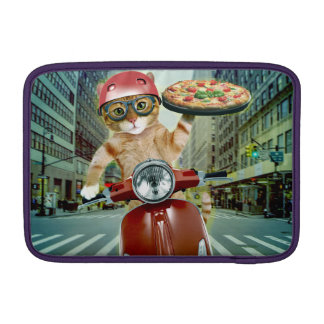 pizza cat - cat - pizza delivery sleeves for MacBook air