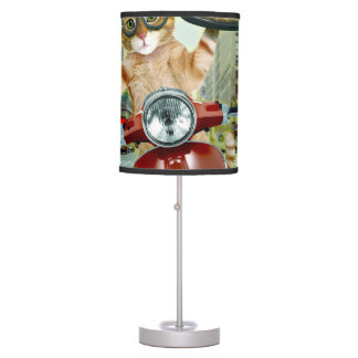 pizza cat - cat - pizza delivery table lamp