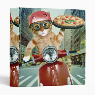 pizza cat - cat - pizza delivery vinyl binders