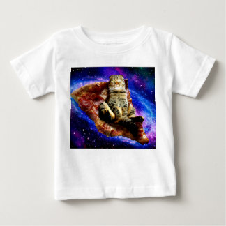 pizza cat - crazy cat - cats in space baby T-Shirt