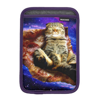 pizza cat - crazy cat - cats in space iPad mini sleeve