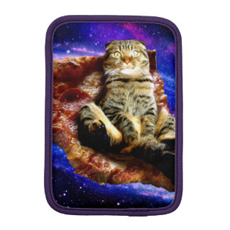 pizza cat - crazy cat - cats in space iPad mini sleeves