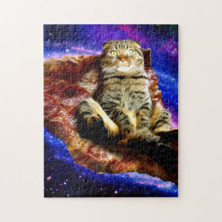pizza cat - crazy cat - cats in space jigsaw puzzle