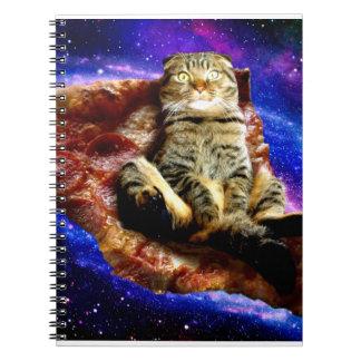 pizza cat - crazy cat - cats in space notebooks