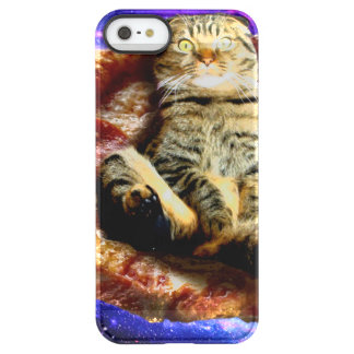 pizza cat - crazy cat - cats in space permafrost® iPhone SE/5/5s case