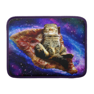 pizza cat - crazy cat - cats in space sleeve for MacBook air