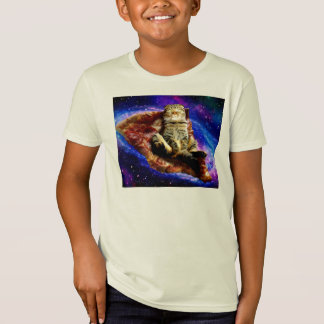 pizza cat - crazy cat - cats in space T-Shirt