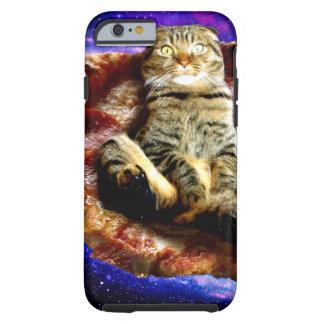 pizza cat - crazy cat - cats in space tough iPhone 6 case