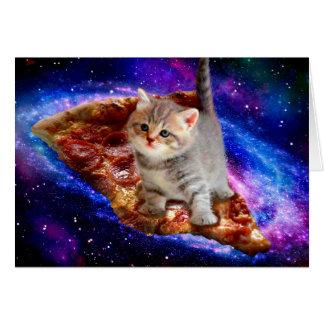 pizza cat - cute cats - kitty - kittens card