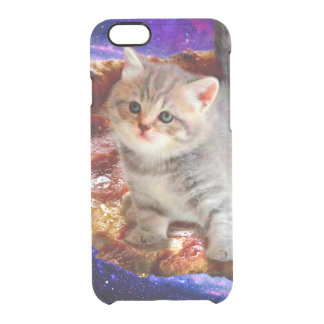 pizza cat - cute cats - kitty - kittens clear iPhone 6/6S case