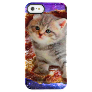 pizza cat - cute cats - kitty - kittens clear iPhone SE/5/5s case