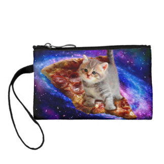 pizza cat - cute cats - kitty - kittens coin purse