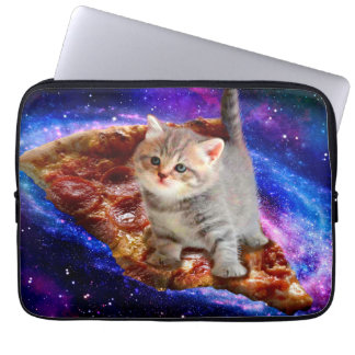 pizza cat - cute cats - kitty - kittens computer sleeves
