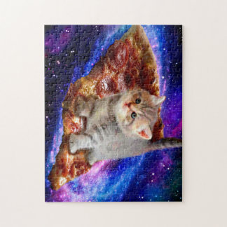 pizza cat - cute cats - kitty - kittens jigsaw puzzle