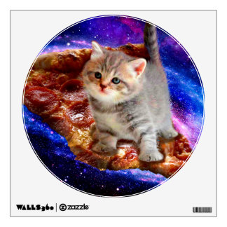 pizza cat - cute cats - kitty - kittens wall decal