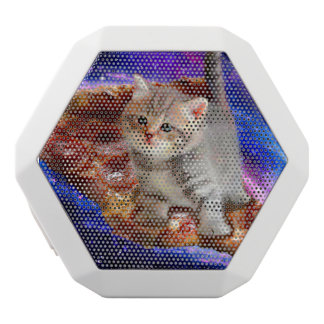 pizza cat - cute cats - kitty - kittens white bluetooth speaker