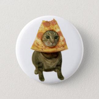 Pizza Cat Design 2 Inch Round Button