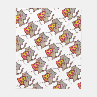 Pizza Cat! Fleece Blanket