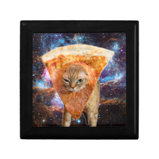 Pizza Cat in Space Wearing Pizza Slice Gift Box