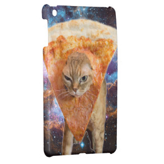 Pizza Cat in Space Wearing Pizza Slice iPad Mini Case