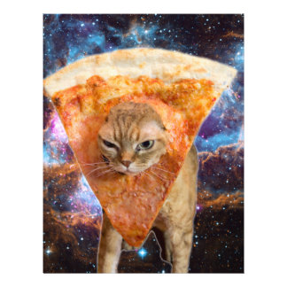 Pizza Cat in Space Wearing Pizza Slice Letterhead
