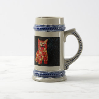 pizza cat - kitty - pussycat beer stein