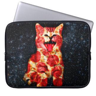 pizza cat - kitty - pussycat laptop sleeves