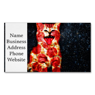 pizza cat - kitty - pussycat 	Magnetic business card