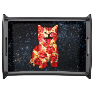 pizza cat - kitty - pussycat serving tray