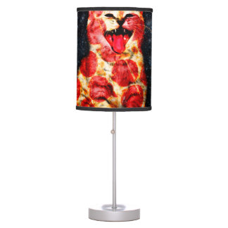 pizza cat - kitty - pussycat table lamp