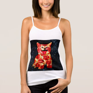 pizza cat - kitty - pussycat tank top