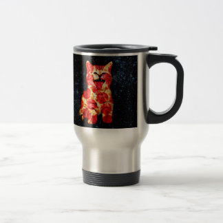 pizza cat - kitty - pussycat travel mug