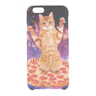 pizza cat - orange cat - space cat clear iPhone 6/6S case
