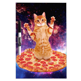 pizza cat - orange cat - space cat dry erase board