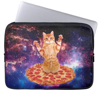pizza cat - orange cat - space cat laptop sleeve