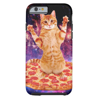 pizza cat - orange cat - space cat tough iPhone 6 case