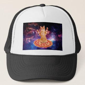 pizza cat - orange cat - space cat trucker hat